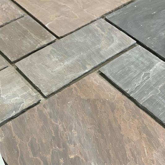 Mahogni sandsten - large opus mix